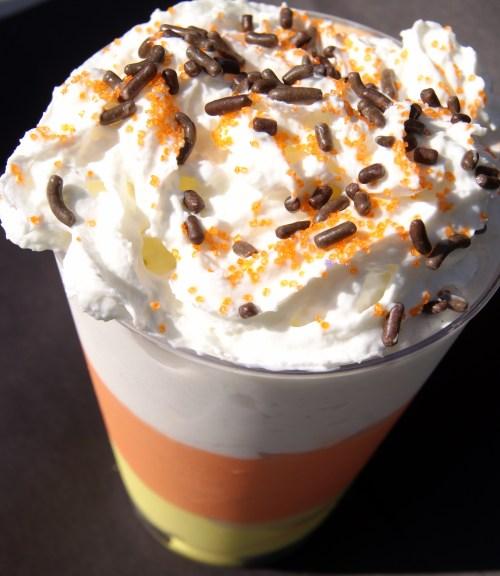 Candy Corn MilkshakeThe Spookiest Halloween Drink Recipes Ever!