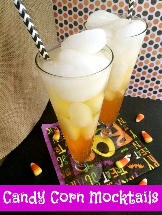 Candy Corn mocktail The Spookiest Halloween Drink Recipes Ever!