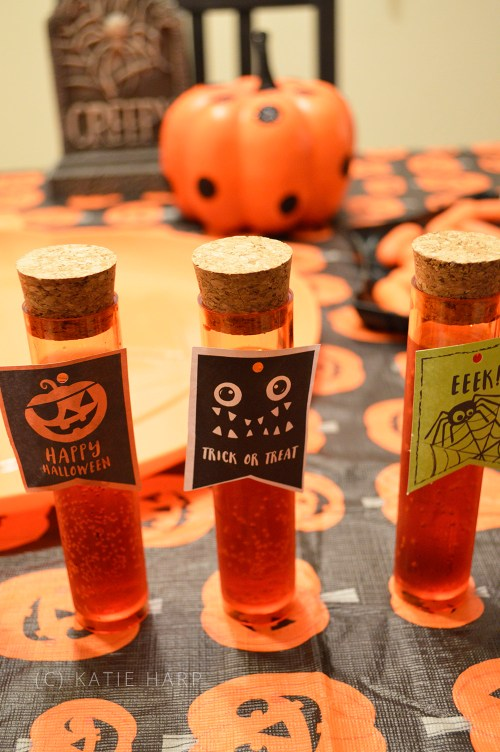Fake Blood Halloween Drink in Test Tubes The Spookiest Halloween Drink Recipes Ever!