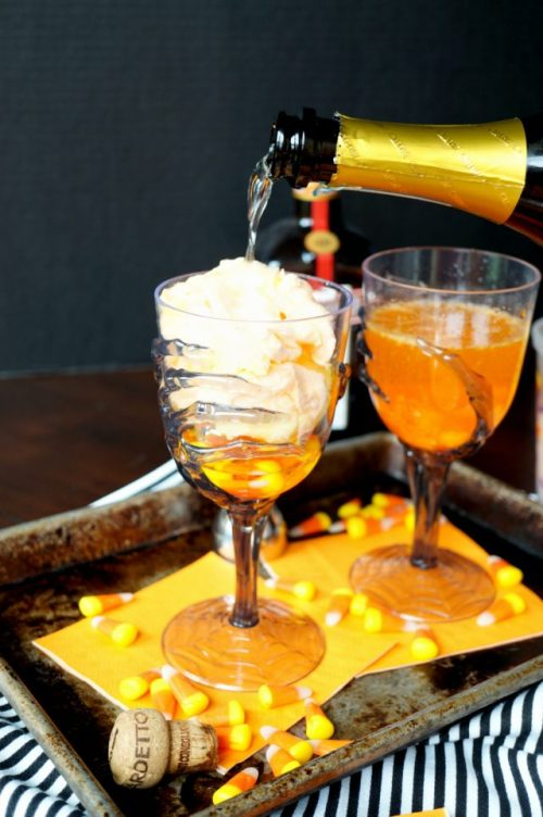 vanishing candy corn cocktails The Spookiest Halloween Drink Recipes Ever!