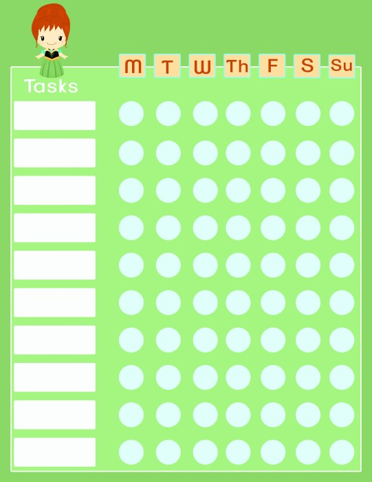 Anna and Elsa Cute and Functional Frozen Chore Charts