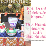 Eat, Drink, Celebrate, Repeat This Holiday Season with Babble Boxx #EDCRepeatBboxx This little magical basket of Christmas goodies is the perfect assortment of gifts for a Hostess! If you are like me, you might just want all of these for yourself and that's quite alright! The Holiday scents and tastes that are included in this box are enough to make Scrooge smile!