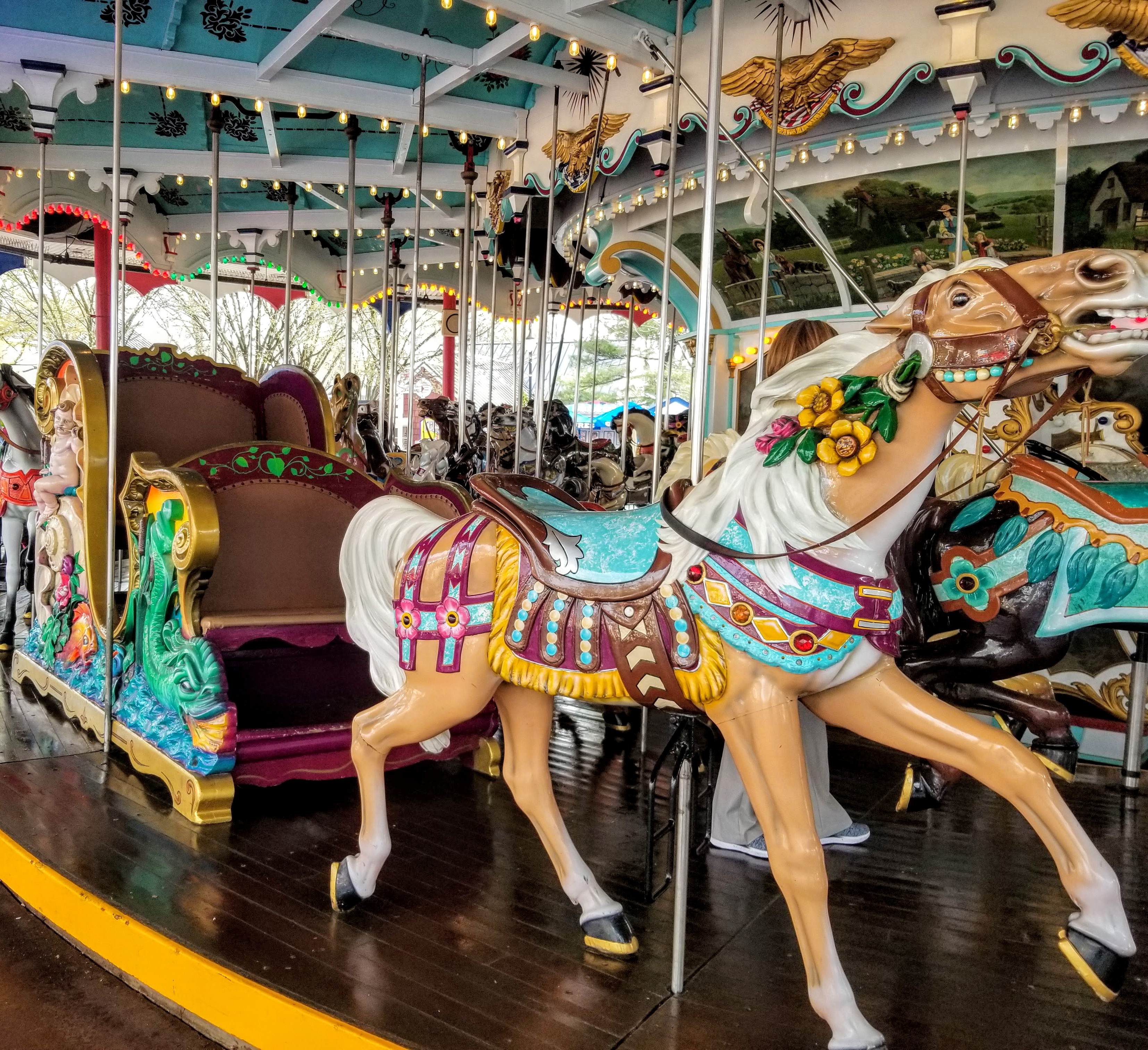 New and Fun Things To Do & Eat in HersheyPark- Hershey, Pa.? #SweetWelcome The HersheyPark Carrousel has an ADA approved horse and carriage.