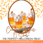 Get into the spirit of things with these Candy Corn Jell-O Shots! The Perfect Halloween Treat! They're perfect for kids & adults!