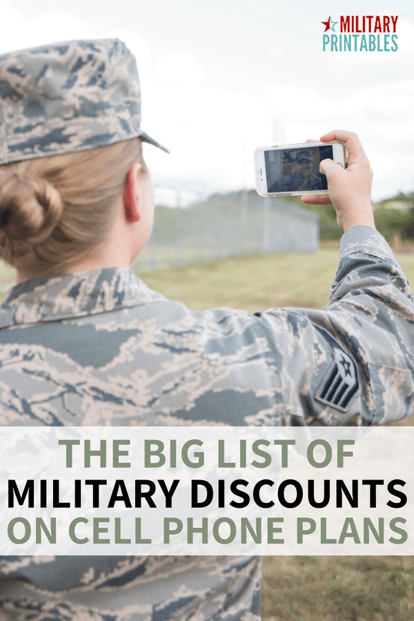 Best military discounts on cell phone plans from T-Mobile, Verizon, Sprint and more #militarydiscount #military #militarydiscounts #supportthetroops