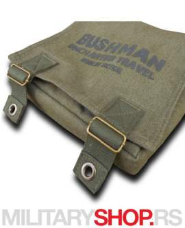 Torbica za nošenje preko ramena zelena boja Bushman