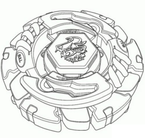 Coloring page Beyblade