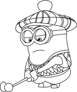 Coloring page golf
