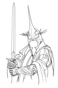 Coloring page Lord of the rings