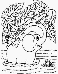 Coloring page jungle