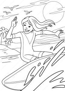 Coloring page surfing