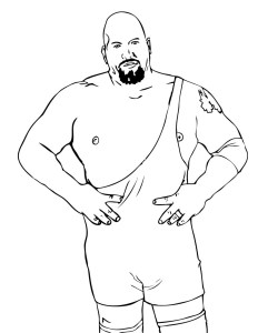 Coloring page wrestling