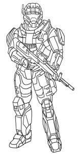 Drawing soldier