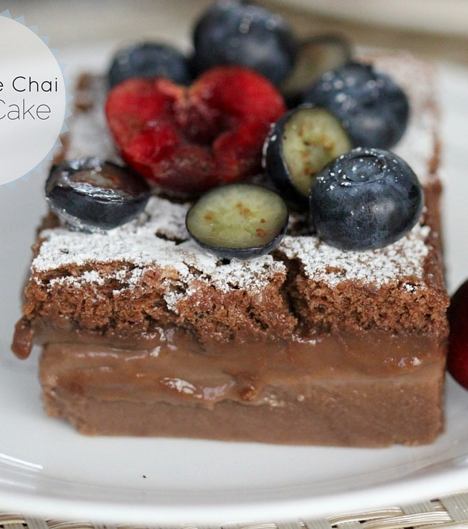 Chocolate Chai Magic Cake