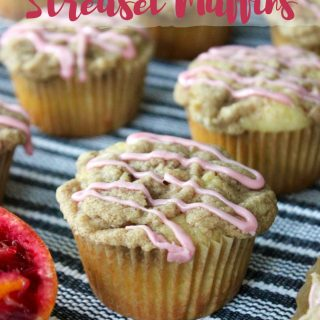 Blood Orange and Amaretto Streusel Muffins