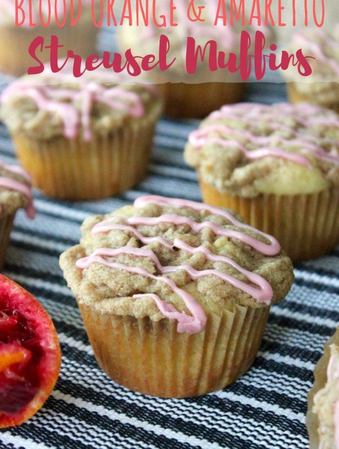 Blood Orange and Amaretto Streusel Muffins