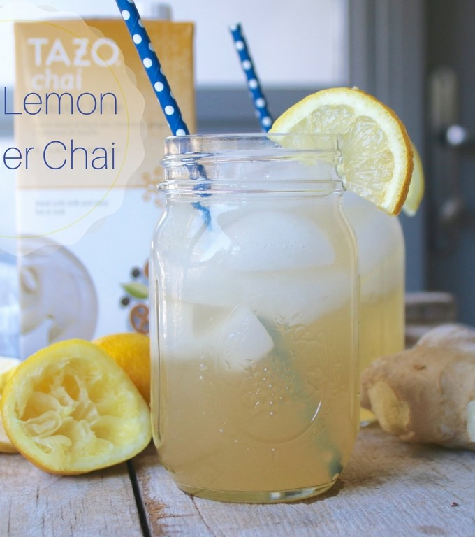 Iced Ginger Lemon Chai