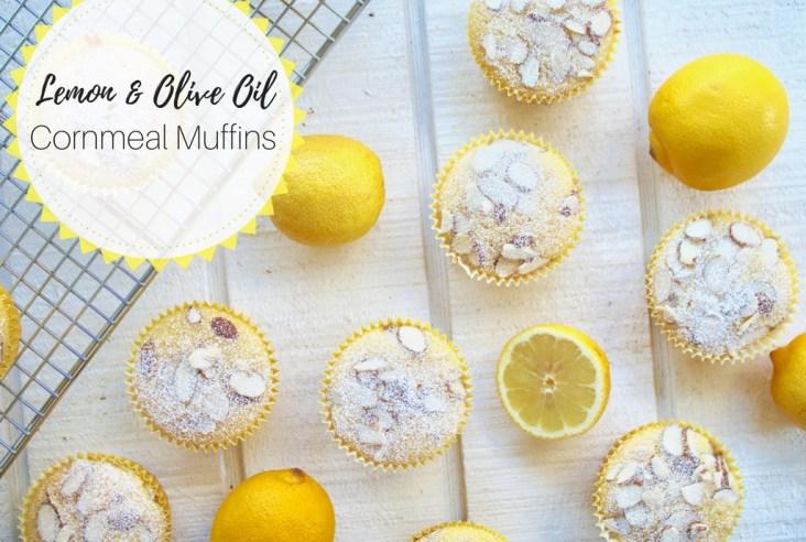 Lemon Olive Oil Cornmeal Muffins