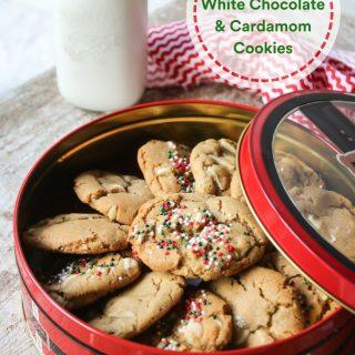 White Chocolate and Cardamom Cookies