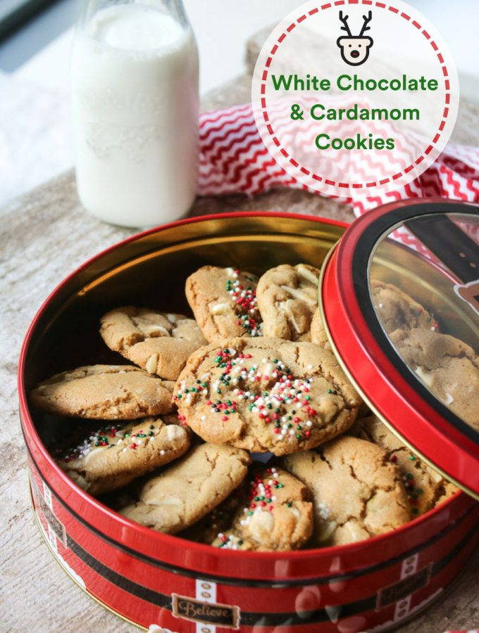 White Chocolate & Cardamom Cookies