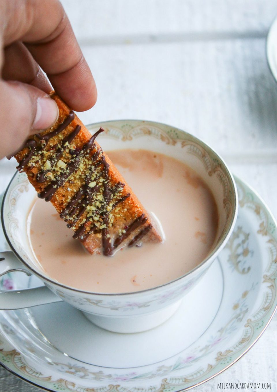 Thandai Cake Rusk Recipe with Chai Dipping   Milk and Cardamom