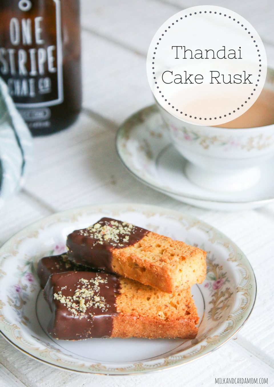 Thandai Cake Rusk Recipe with Chai   Milk and Cardamom