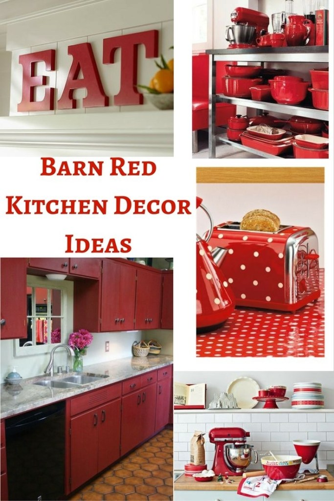 barn red kitchen decor ideas black kitchen decor red