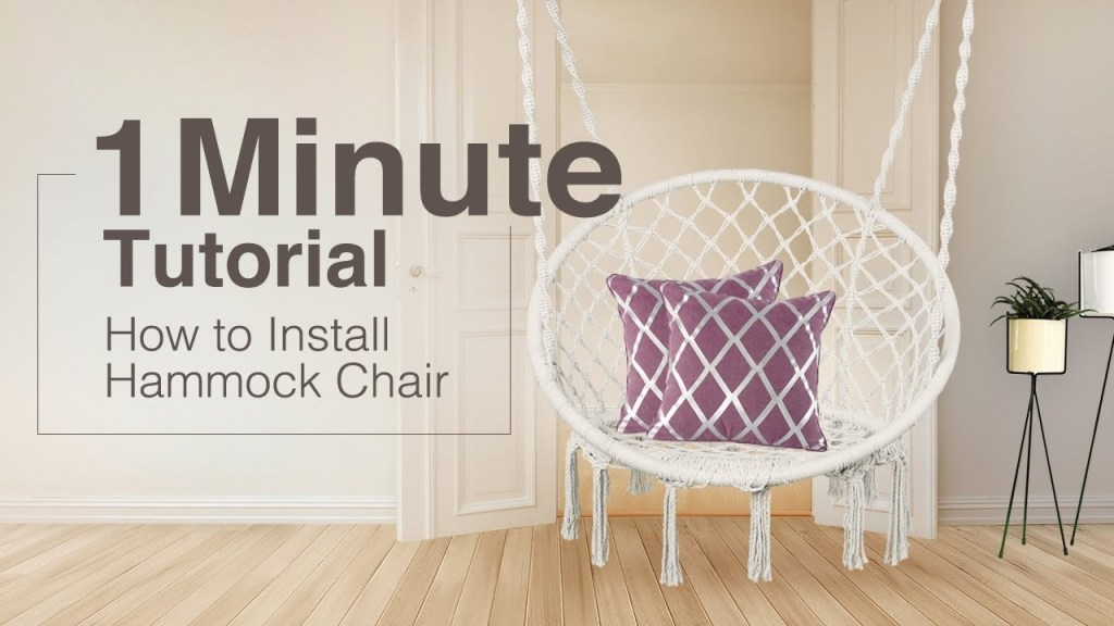 how to install hammock chair 1 minute tutorial