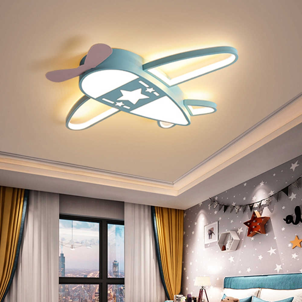 modern led airplane ceiling light with remote dimmable