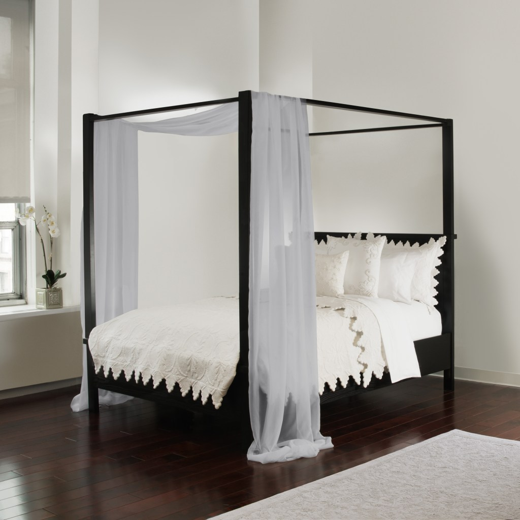 sheer white canopy bed scarf royale linens