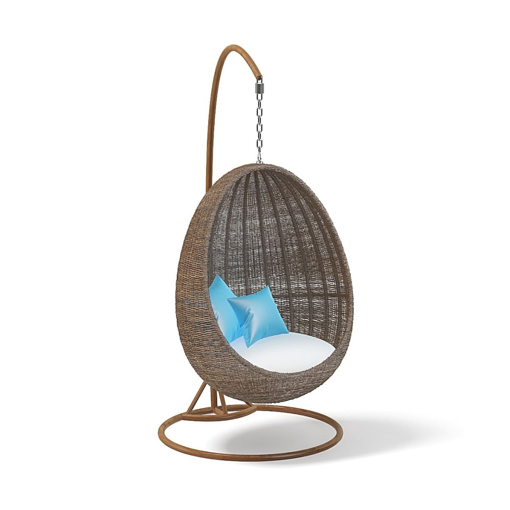 wicker hanging chair 3d model
