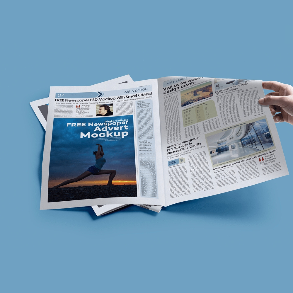 25 newspaper ad mockup templates psd creativebonito