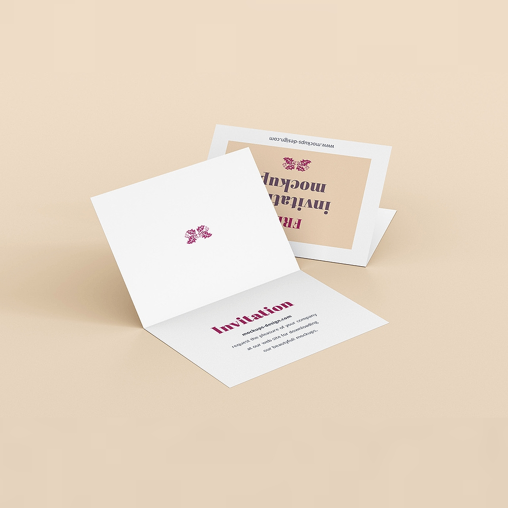 30 elegant invitation greeting card mockup designs psd