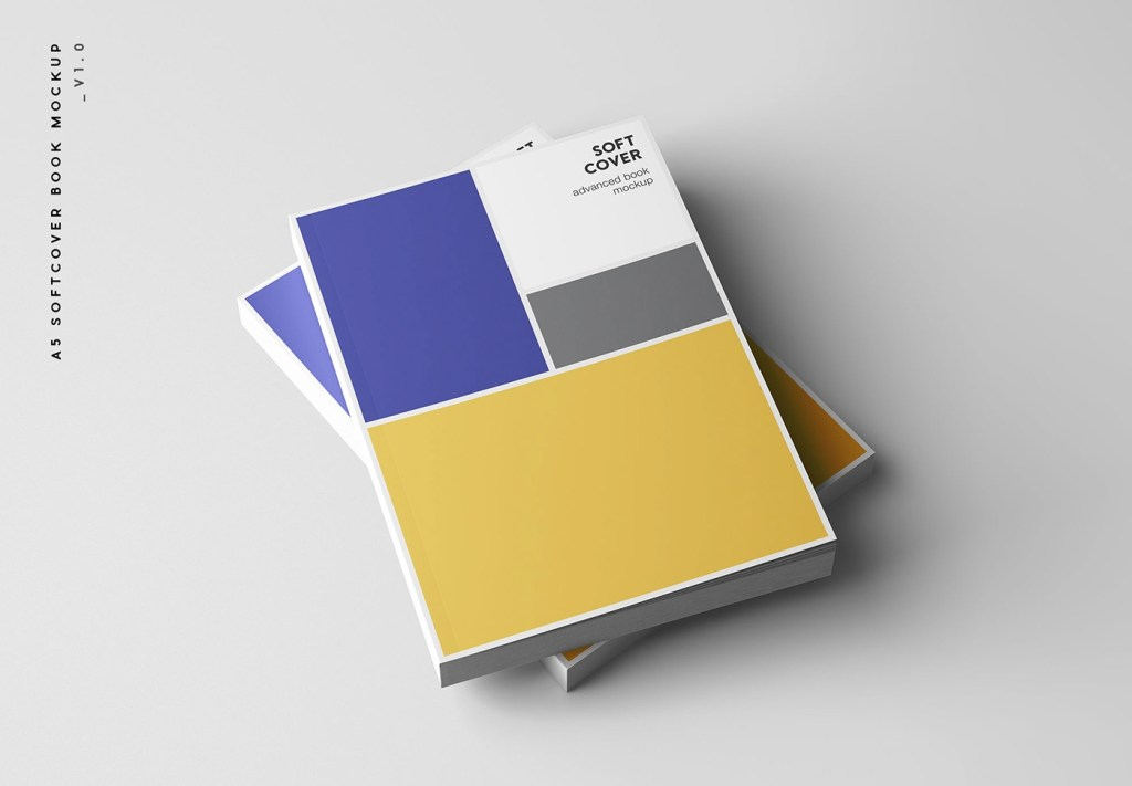 a5 softcover book mockup on behance