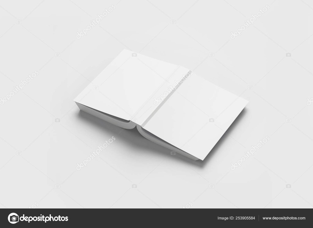 blank softcover book or magazine template on a soft gray background3d illustrationmock up 253905584