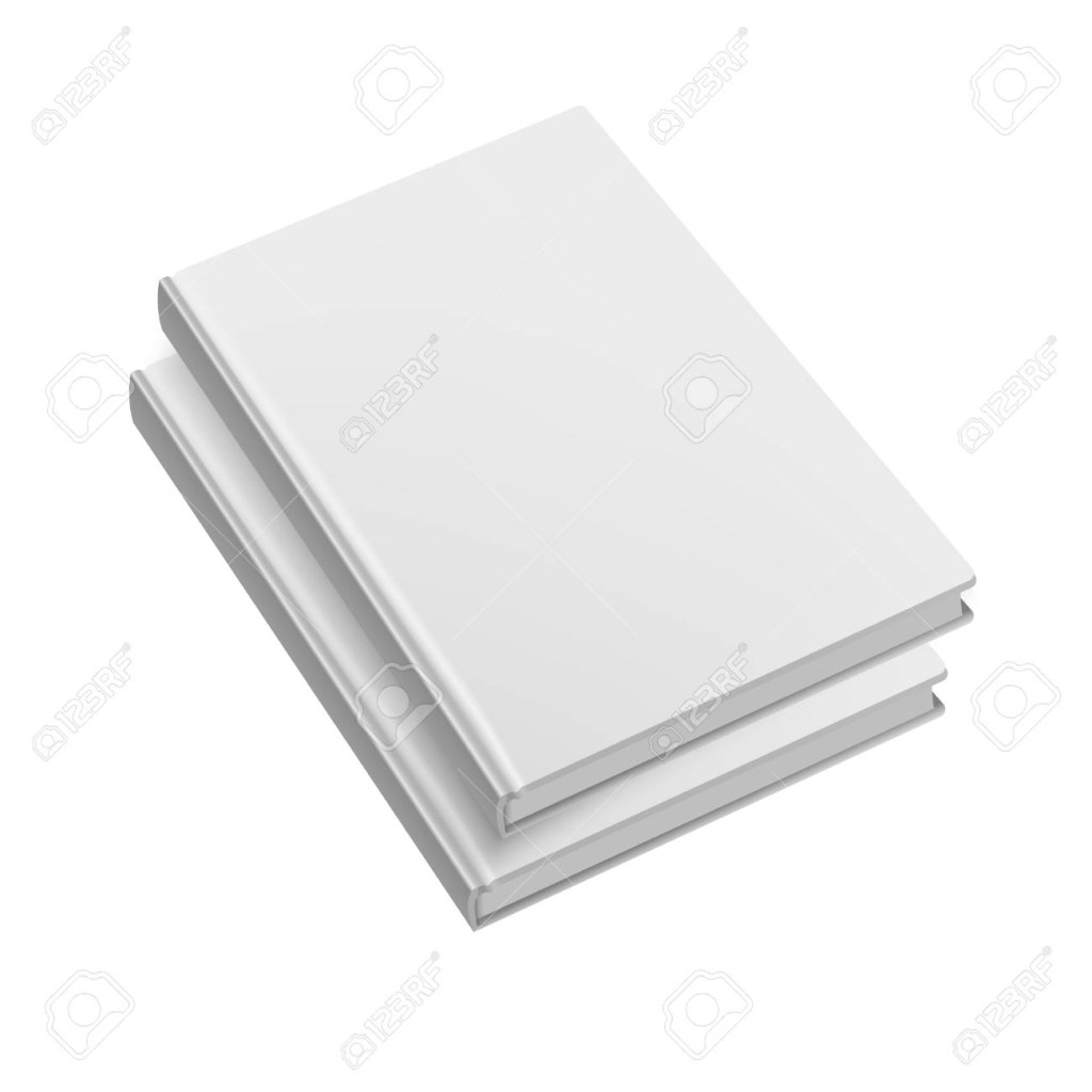 blank softcover book or magazine template on white backgroundmock