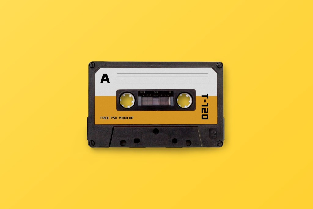 cassette tape photoshop template