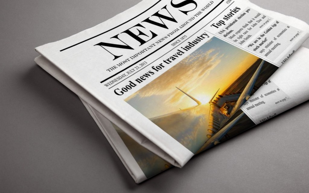daily newspaper newsletter mockup