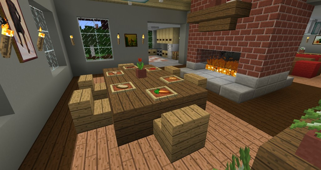 dinner is served item frames food minecraft