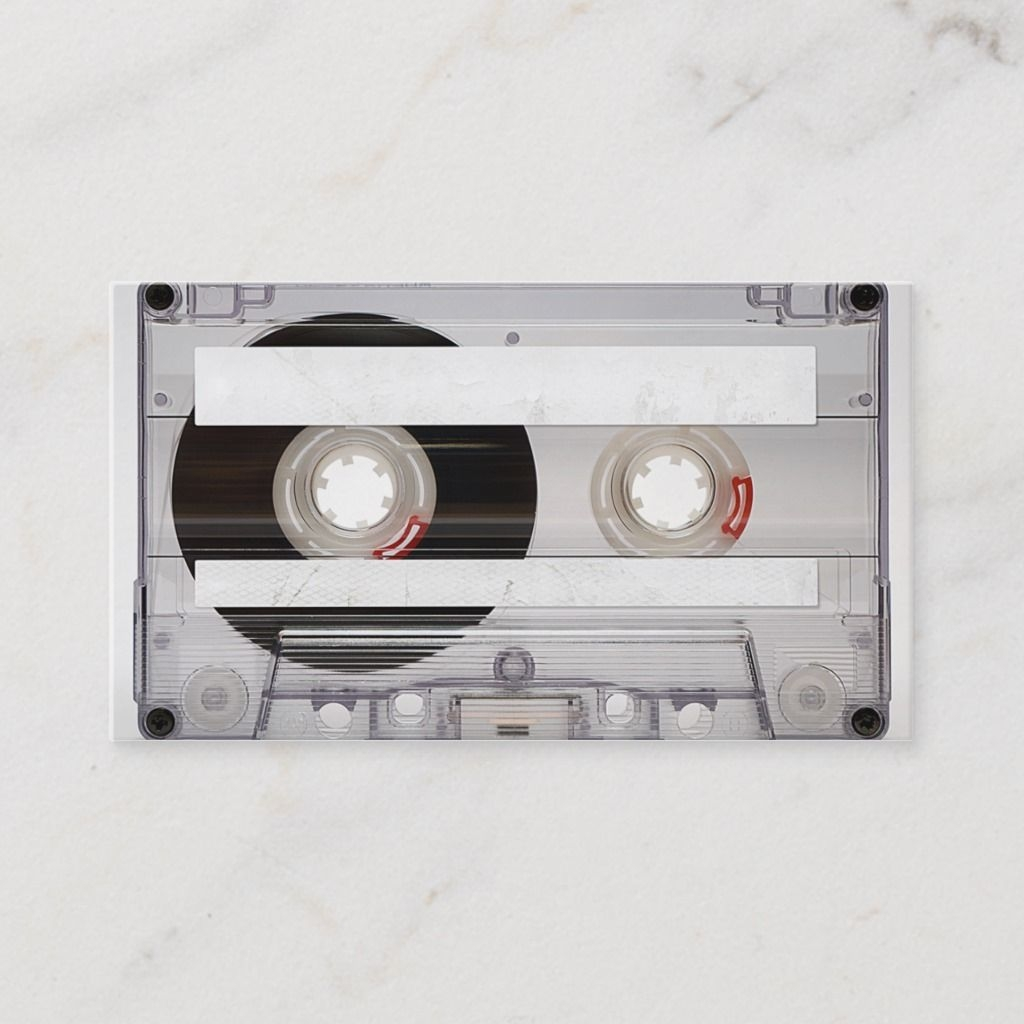 dj cassette tape business card template zazzle in 2021