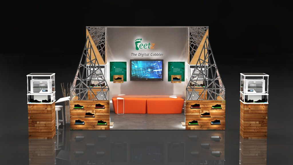 exhibition stage for feetz freelancers 3d