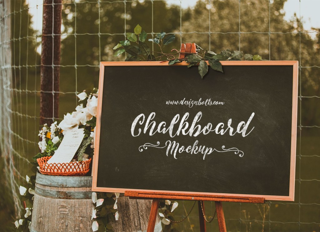 free chalkboard mockup psd for lettering typography good
