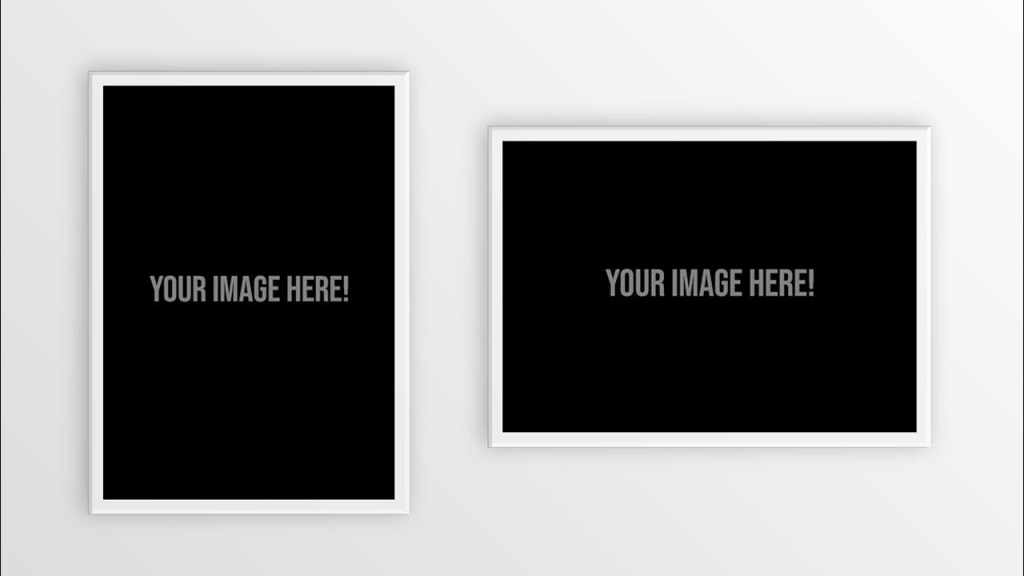 free download posterframe mockup psd template photoshop