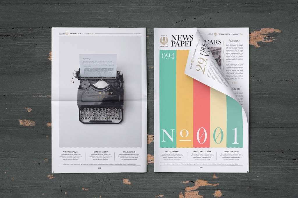 free front full page newspaper mockup psd good mockups