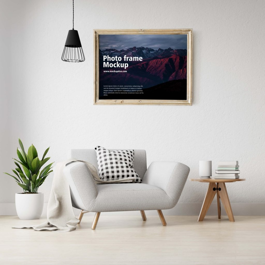 free golden photo frame mockup mockupden exclusive