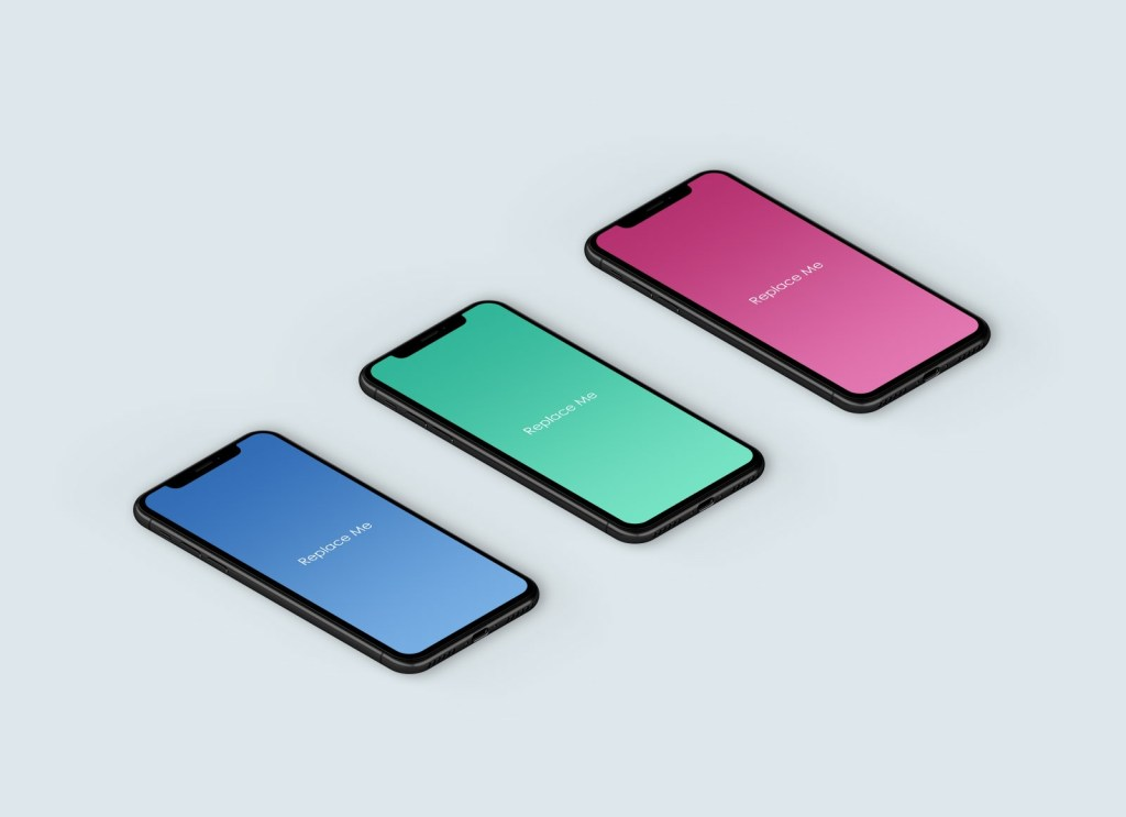 free isometric iphone x app mockup psd good mockups