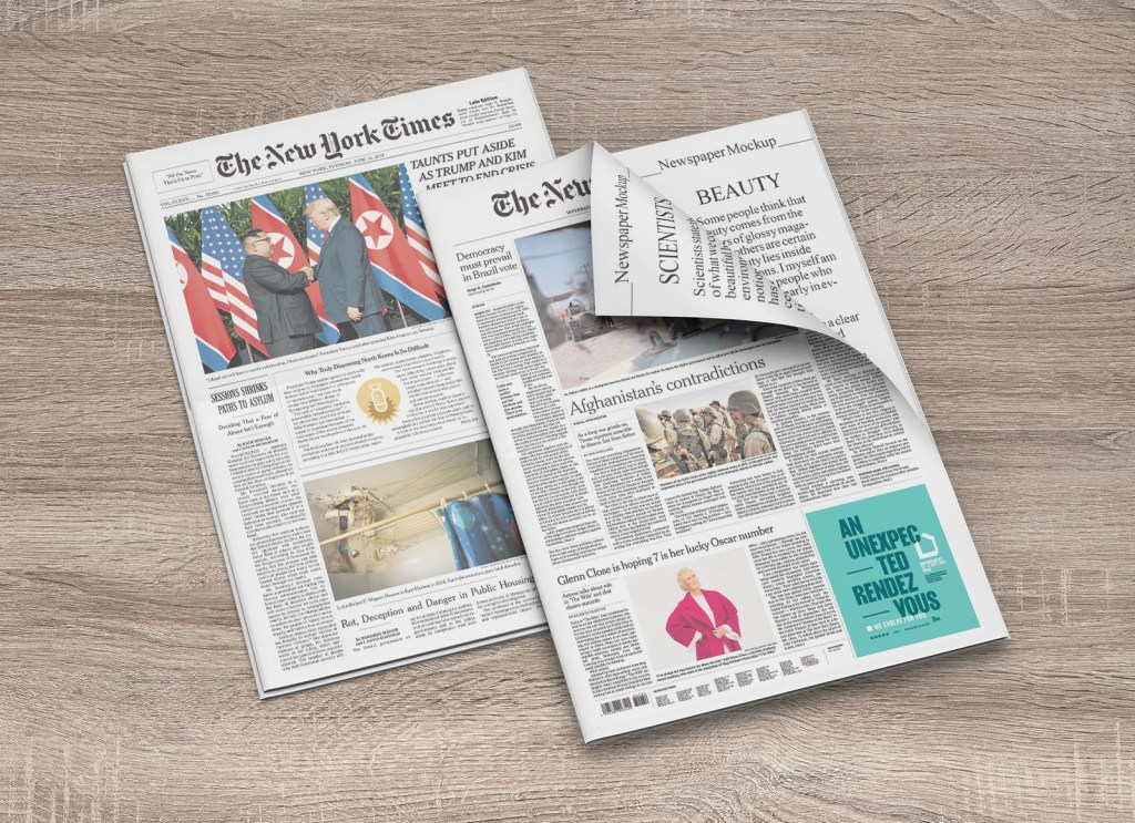 free newspaper cover inner pages mockup psd set good mockups