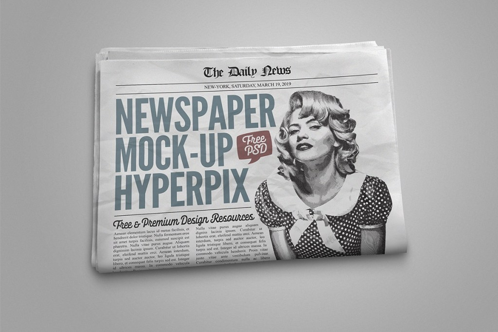 free newspaper mockup creativetacos