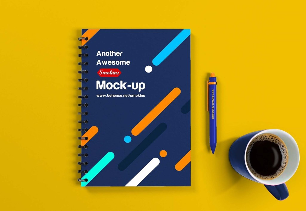 free notebook mockup psd in 2020 free notebook notebook