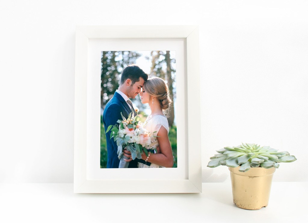 free picture frame mockup psd for wedding photos lettering